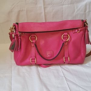 dooney and bourke Raleigh calf leather satchel
